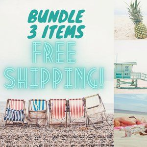 Bundle or Like 3 Items for FREE SHIPPING!